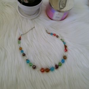 Jewelry - Colorful glass beaded Necklace